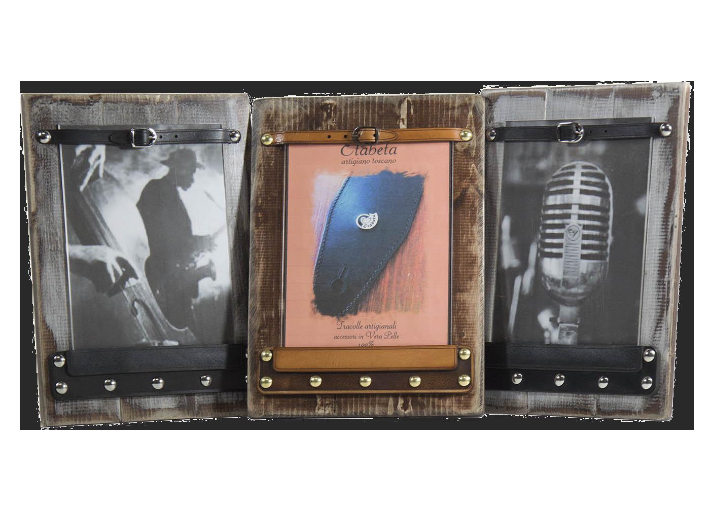 Portafoto in legno e cuoio leather plexiwood for Portaritratti legno