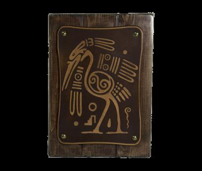 Uccello maya - sfondo marrone