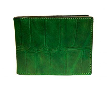 Portafoglio Uomo Classico Stampato Cocco Verde