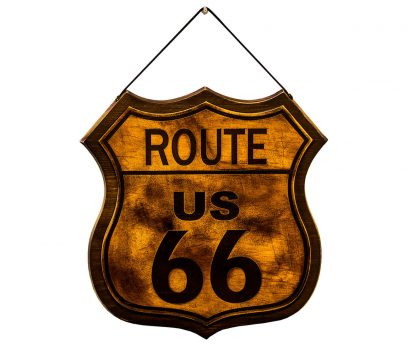 Route 66 Road Trip Sign Decor-Made in Italy
