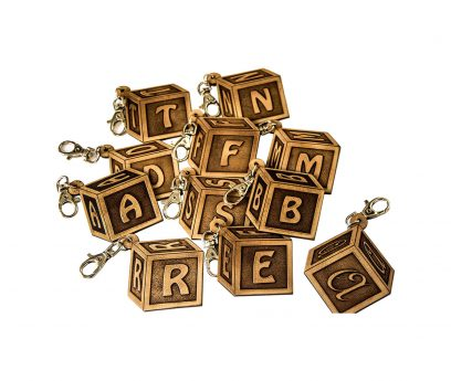 Keychains with alphabet letters