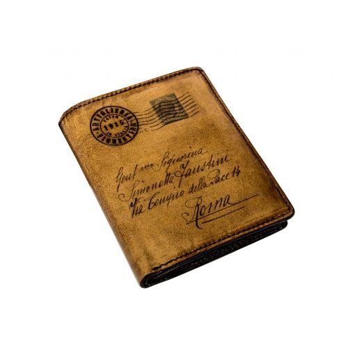portafoglio uomo verticale con Portamonete mod. VIVALDI Marrone