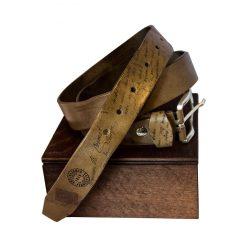 Cintura Pelle Conciata al Vegetale grigia Artiglieria Fiorentina