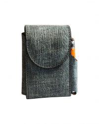 porta pacchetto sigarette pelle effetto jeans