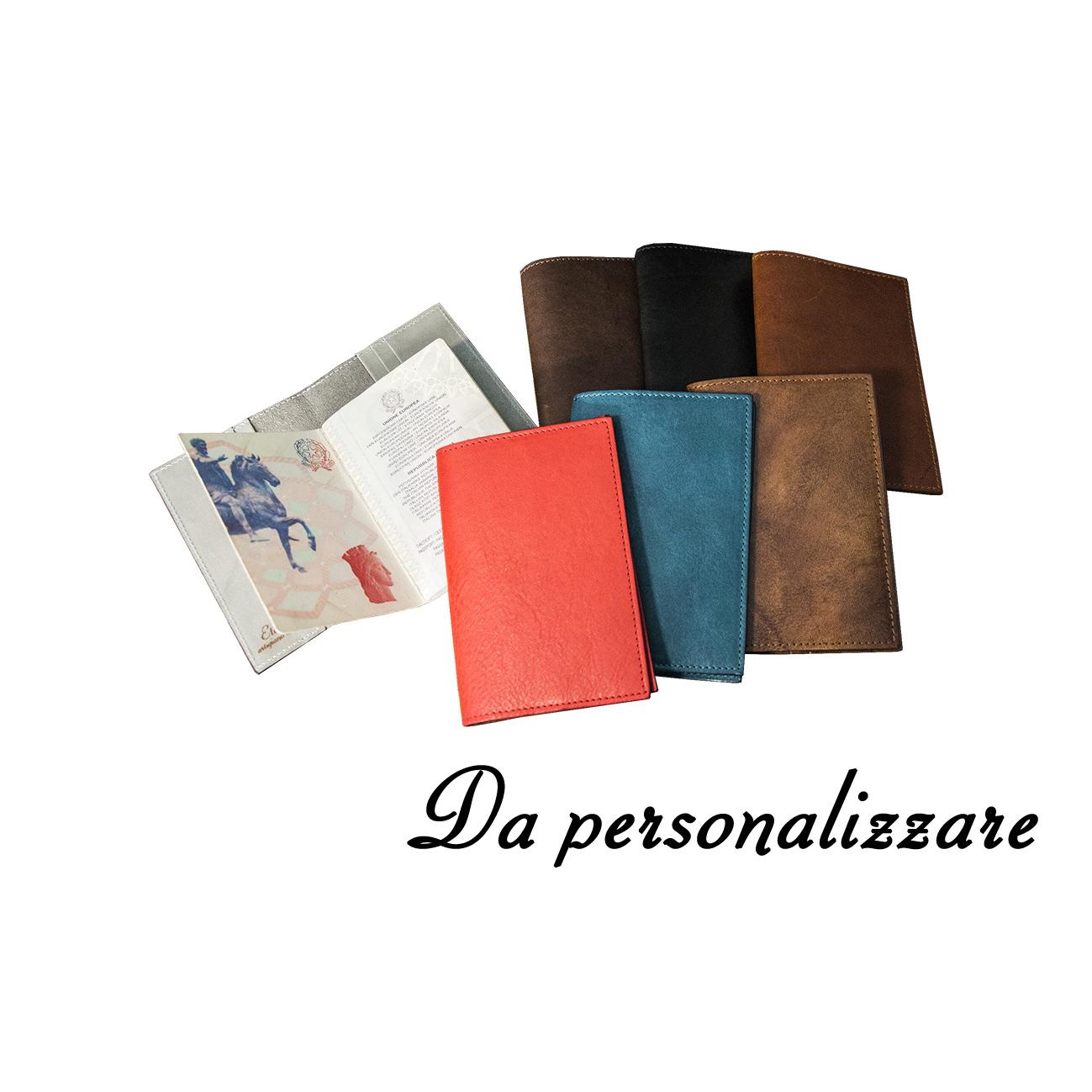 porta passaporto personalizzato in pelle