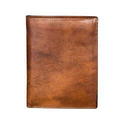 Portafoglio Porta Carte di Credito Marrone Tamponato