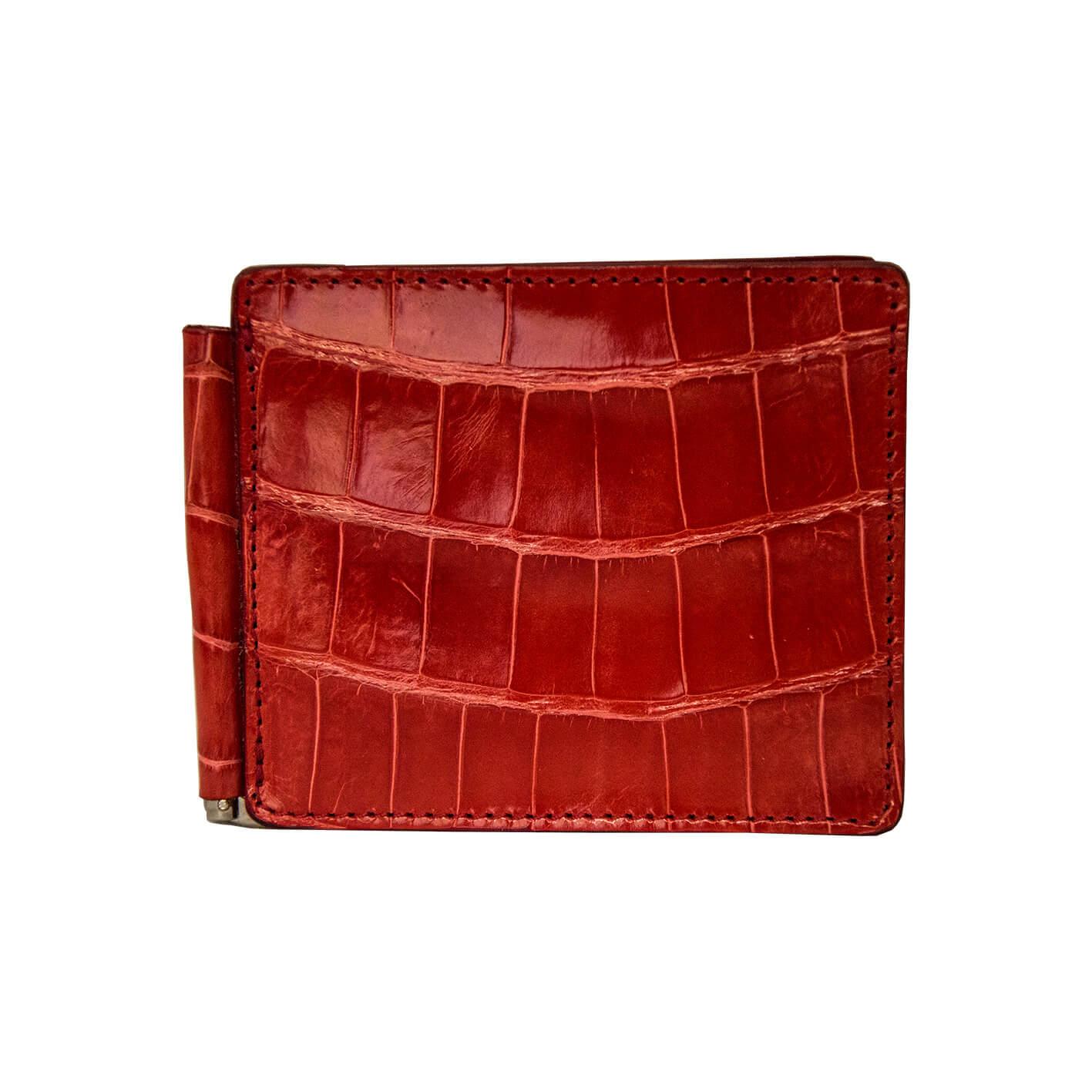 portafoglio uomo coccodrillo rosso -portadollari