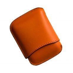 porta ammezzati per toscani o toscanelli in pelle conciata al vegetale arancione