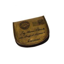 portamonete uomo pelle tallone cartolina artiglieria fiorentina