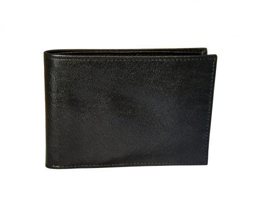portafoglio uomo con porta assegni nero