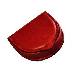 portamonete uomo a tacco in vera pelle conciata in Toscana rosso