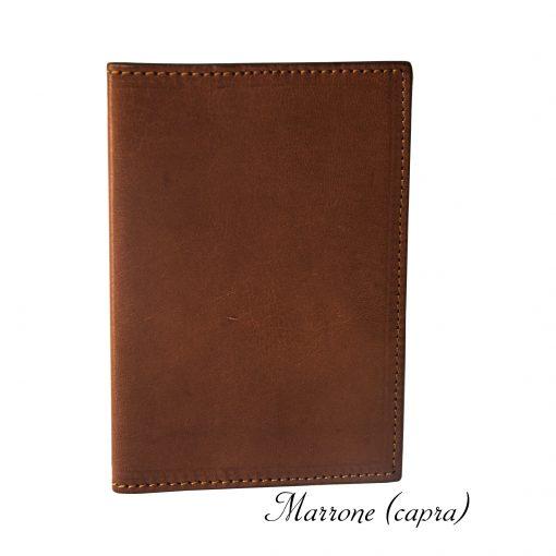porta passaporto personalizzato in vera pelle marrone (capra)