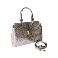 Borsa Donna Luxury in Vero Argento Laminato