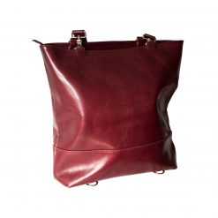 Borsa Zaino Pop Shopping Vera Pelle Bordeaux