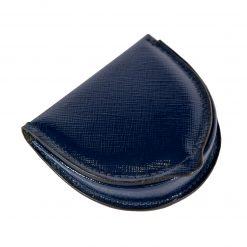 portamonete tacco pelle blu elettrico lucido
