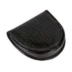 portamonete tacco pelle nero stampato